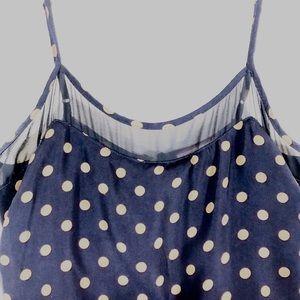 BEST SOCIETY Dresses - BEST SOCIETY POLKA DOT CINCH WAIST CAMI DRESS - S
